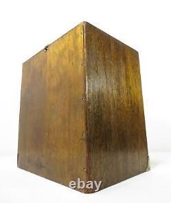 Case De Voyage De Cabinet Antique En Cabinet Boîte À Outils En Bois 14 Drawer Apothecary Doctor Bag