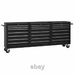 Chariot À Outils Vidaxl Avec 21 Tiroirs Steel Black Tool Storage Drawer Cabinet