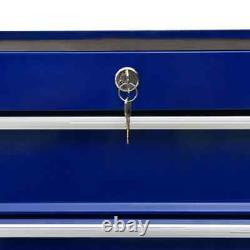 Chariot À Outils Vidaxl Avec 21 Tiroirs Steel Blue Tool Storage Drawer Cabinet
