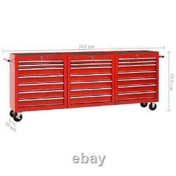 Chariot À Outils XXXL Workshop Avec 21 Tiroirs Storage Box Cabinet Service Cart Tool