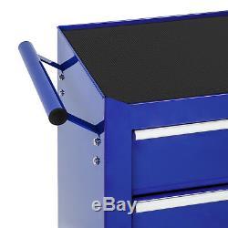 Chariot D'outil 5 Outils De Chariot D'atelier Tiroir Bleu Rouleau Boîte De Coffres En Acier Du Cabinet