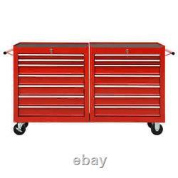 Chariot D'outils De Rangement En Métal Tiroir Mobile Coffret D'armoire Boîte De Garage Panier D'atelier