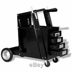 Chariot De Soudage Chariot Avec 4 Tiroirs Atelier Noir Rangementplomberie Organisateur Cabinet