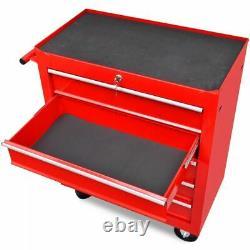 Chariot De Stockage Lourd D'atelier 5 Tiroirs Boîte À Outils Rouge Boîte À Outils Boîte À Outils Roue