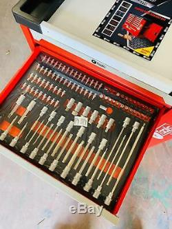Chariot Outil Cabinet Avec 418 Outils Atelier Acier Coffre De Rangement Porte Toolbox