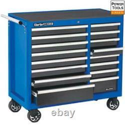 Clarke Cbb226blb Extra Large Hd Plus 16 Tiroirs Outils Cabinet Bleu