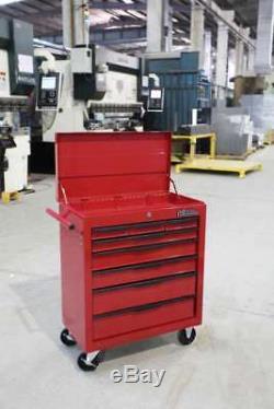 Coffre À Outils Chariot Hilka 8 Tiroir Rouge Entreposage Mobile Rouleau Roues Box Cabinet