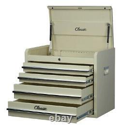 Coffre À Outils Hilka Metal Classic Car Beige 4 Drawer Tools Storage Box Armoire Unit
