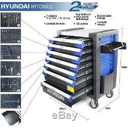 Coffre À Outils Hyundai 305 Pièce Pro 7 Tiroir Castor Monté Sur Roulettes Cabinet Hyundai