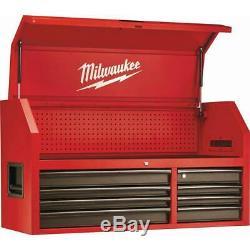 Coffre À Outils Roulant Cabinet Set Milwaukee Acier Texturé 46 16 Tiroir De Fermeture En Douceur