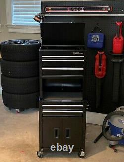 Coffre À Outils Roulants 20-in 5-drawer Cabinet Combo Avec Riser Box Storage Workshop