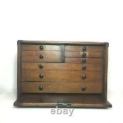 Coffre D'armoire Antique De Boîte À Outils De Cru Moore Et D'wright 8