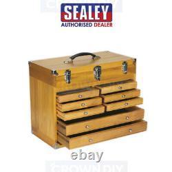 Coffre De Boîte À Outils En Bois 8 Tiroir Armoire Machiniste De Stockage Lourd Sealey Ap1608w