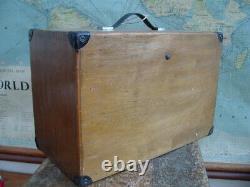 Coffre De Boîte À Outils Vintage Moore & Wright 7 Tiroirs En Bois D'ingénieurs