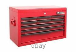 Coffret D'outils 9 Tiroirs Boîte Supérieure Stockage Lourd Cabinet Rouge Hilka Garage Verrouillable