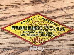 Commode À Outils À 5 Tiroirs En Bois De Chêne, Whitman & Barnes Dills Reamers