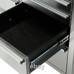 Crytec 72 15 Tiroirs Travail En Acier Inoxydable Banc Boîte À Outils Coffre Cabinet Rouleau Cabine