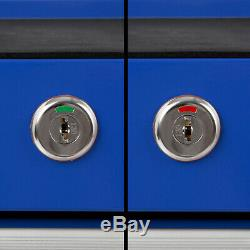 Diapositives Portant Eberth Coffret Outil Panier Roue Boule De Plateau De Chariot 14 Bleu Tiroir