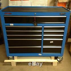 Draper 15222 40 Grand Rouleau Cabinet Outil Bleu 11 Tiroirs