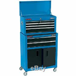 Draper 6 Tiroirs Combinés Rouleau Cabinet Et Bleu Coffre À Outils
