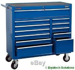 Draper 80246 Boîte À Outils À Coffre À Coffre À Carreaux Roulants Bleus À 12 Tiroirs Bleus