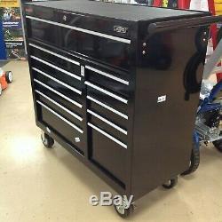 Draper 80247 12 Tiroirs Noir Rouleau Cabinet Chest Boîte À Outils 40 Large