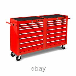 Eberth Tool Cabinet Cabinet Chariot Trolley Outils Boule À Billes Diapositives 14 Tiroirs