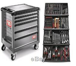 Facom 129 Pce Kit D'outils Dans Les Bacs Module Avec 6 Tiroirs Cabinet Gris À Rouleaux