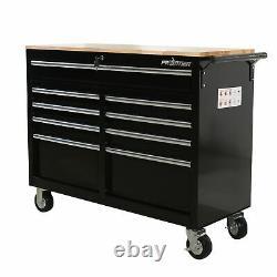 Frontière 46 Po. 9-drawer Mobile Workbench, Coffre À Outils, Armoire À Outils Avec Bois