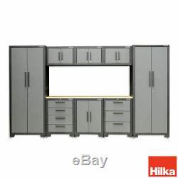 Garage Cabinet De Rangement Outils Atelier De Travail Top 9 Piece Tiroirs Steel Furniture