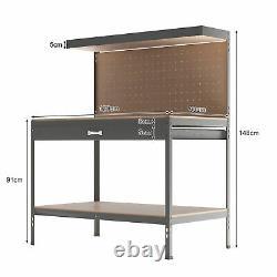 Garage Workbench Tiroir Entreposage Pegboard Tool Box Coffre Cabinet Lourd 440kg