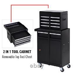 Grand Organisateur D'outils Chariot Roulant Tiroirs Rangement Coffre Armoire Garage