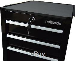 Halfords 4 Rangement Latéral De Tiroir Avec Roulement À Billes Armoire De Rangement Pour Charge Max. 60kg, Noir