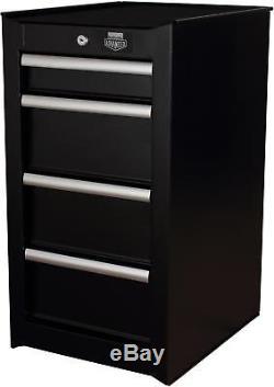 Halfords Advanced - Armoire De Rangement Latérale À 4 Tiroirs, Rangement Pour Garage, Charge Max. 150kg, Noir