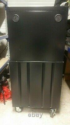 Halfords Advanced Tool Chest & Cabinet 12 Tiroirs Black Rrp £525 Poids Lourds