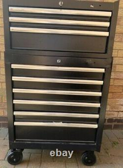 Halfords Advanced Tool Chest & Cabinet 3+6 Tiroirs Black Rrp £525 Heavy Duty