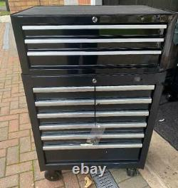 Halfords Advanced Tool Chest - Cabinet 3+6 Tiroirs Noir Rrp 425 Euros