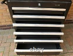 Halfords Advanced Tool Chest & Cabinet 6+6 Tiroirs Black Rrp £585 Heavy Duty