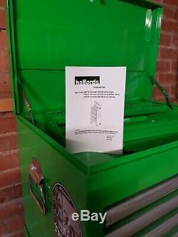Halfords Industriel 12 Outil Tiroirs Et Coffre Balle Vert Roulement 4 Clés Inc