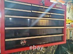 Halfords Professional 9 Tiroirs Haut Poitrine Boîte À Outils Cabinet Cab Lumière Utiliser Seulement