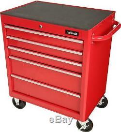 Halfords Roulement À Billes 5 Tiroirs Verrouillables Garage Boîte À Outils De Stockage Rouge