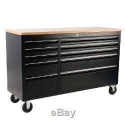 Heavy Duty 55 Banc De Travail Boîte À Outils Commode 10 Tiroirs Cabinet Garage Unité De Rangement