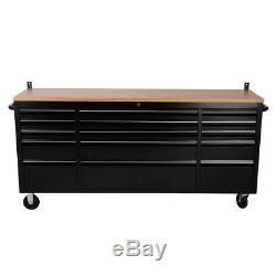 Heavy Duty 72 Pouces Banc De Travail Boîte À Outils Commode Cabinet 15 Tiroirs Garage Cabinet Royaume-uni