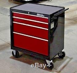 Hilka Coffre À Outils Chariot Rouge Noir 4 Tiroirs Boîte De Rangement Rouleau Cabinet Panier Boîte