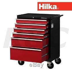 Hilka Hd Pro Armoire À Cabine À Roulettes Avec Rangement Pour Garage Mobile, Chariot À Outils À 6 Tiroirs
