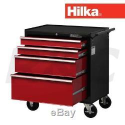 Hilka Hd Pro Armoire À Roulettes Avec Coffre De Rangement Pour Garage Mobile, Chariot À Outils À 4 Tiroirs
