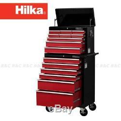 Hilka Hd Pro Chariot À Outils À 15 Tiroirs Garage Mobile Combinaison Coffre À Rideaux