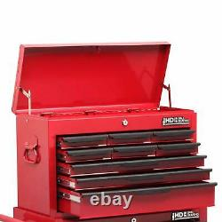 Hilka Steel Rolling Tool Cabinet Red 14-drawer Top Coffre Rangement Garage