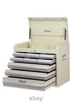 Hilka Tool Chest Metal Classic Car Beige 9 Drawer Tools Storage Box Armoire Unit