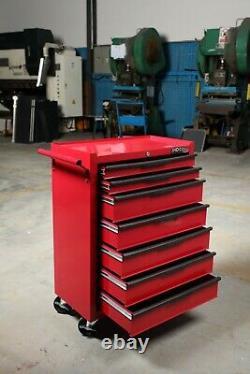 Hilka Tool Chest Trolley 7 Tiroir Rouge Métal Mobile Roues Rouleau De Stockage Armoire